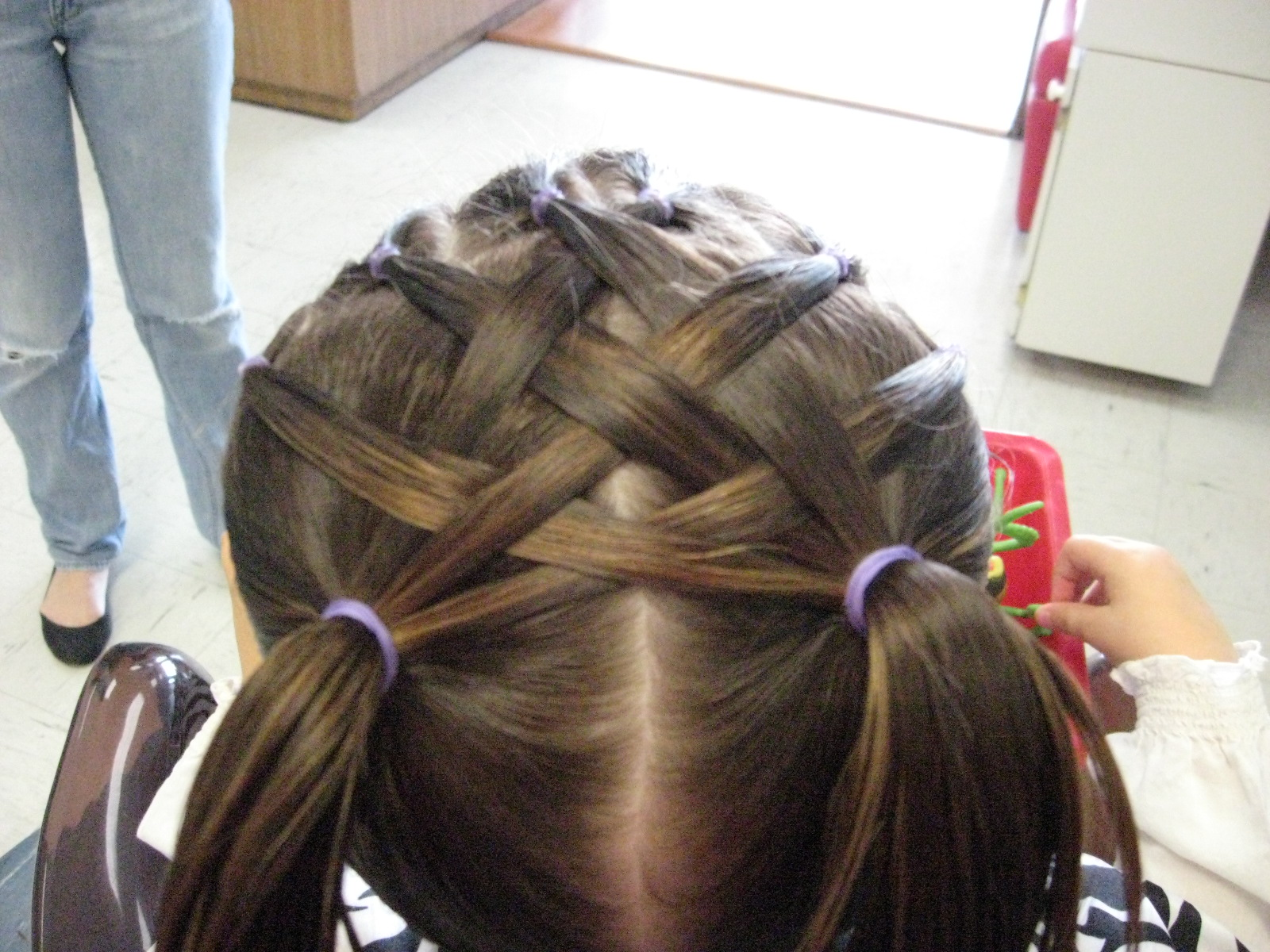 Weaved Sections to pigtails