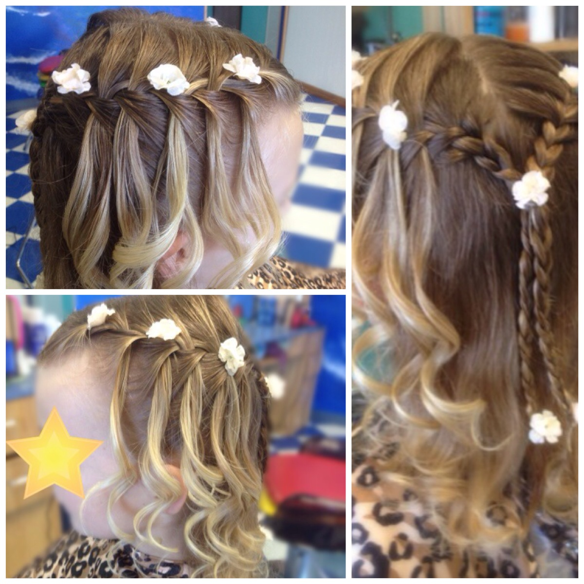 Waterfall half braids