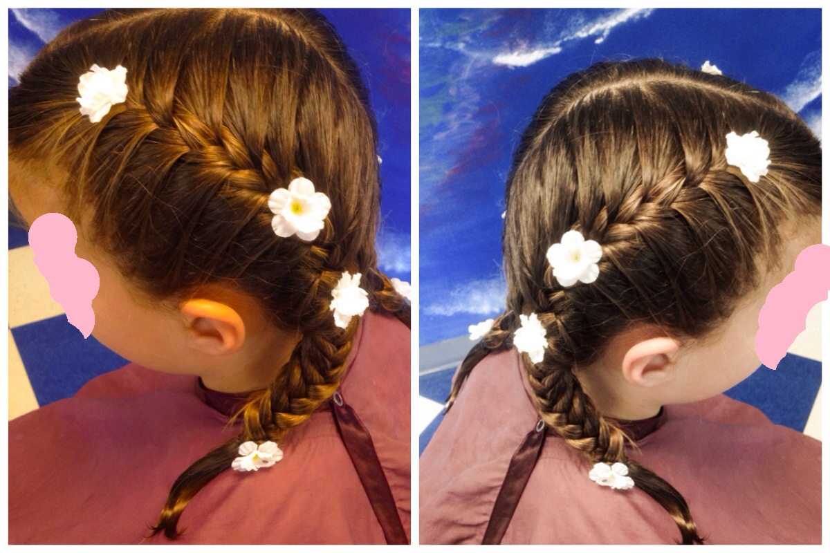 Classic French braid pigtails